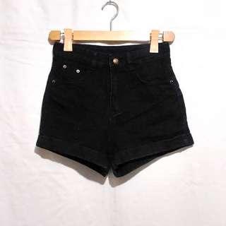Black Denim HW shorts
