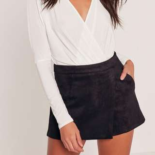 Miguided Suede Skort