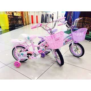 "Pinky 12"" inch Air Tyre Children Bicycle Basikal Tricycle"