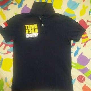 Kaos Turn Back Crime Original Size S Fit To M Original