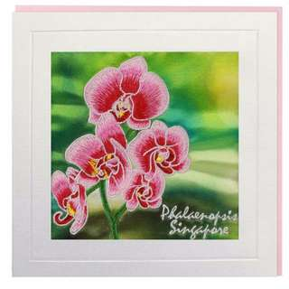 Phalaenopsis Singapore Greeting Card