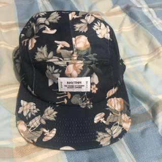 Rhythm Five Panel Hat (Floral / Navy)