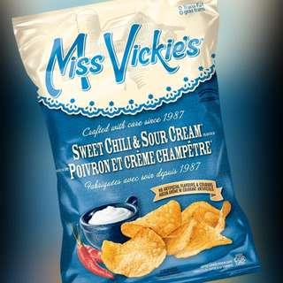 加拿大直送Miss Vickie's 薯片 (Sweet Chili & Sour Cream flavour)
