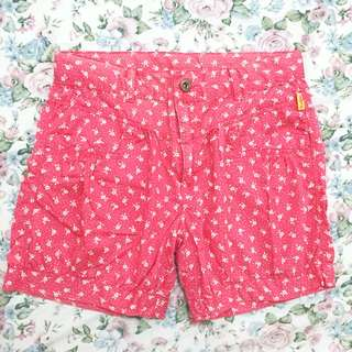 Flower Red/ Pink Shorts