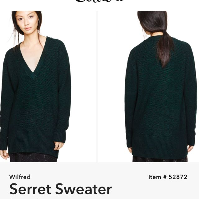 $175 Wilfred by Aritzia Serret Sweater in GRAY SizeS