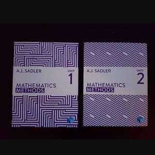 Math Methods Unit 1 & 2