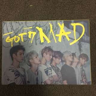 Got7 Mad Album Horizontal Ver