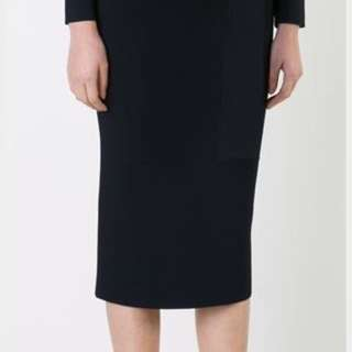 Scanlan & Theodore Khaki Crepe Knit Skirt