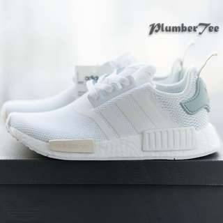 Women US7.5 Adidas Original NMD R1 Force White | Tactile Green