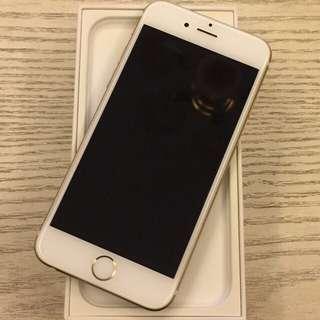 Apple iPhone 6 128G金色,無傷,盒裝齊全