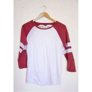 ALL ABOUT EVE RAGLAN TEE T-SHIRT SHIRT CROP 3/4 SHORT SLEEVE WOMENS TOP SZ XS 6 8