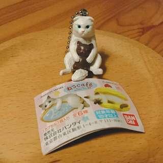 全新 扭蛋 貓咪 貓咪咖啡屋 貓咪cafe10 點心貓10 藍眼白貓 / 或交換 🐠 粉魚橘貓