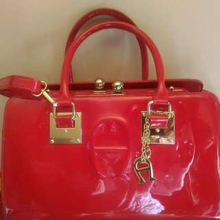 Tas Kw Super Aigner Bag Red Merah