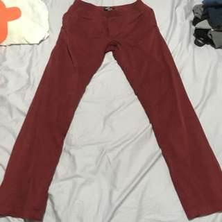 Authentic Stussy Burgundy Beach Pants