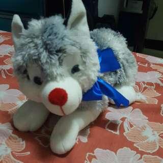 Blue Magic Husky Stuffed Toy