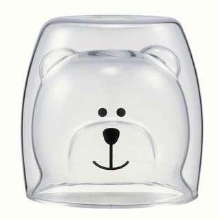 雙層小熊玻璃杯
