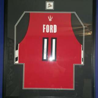 T.j Ford Signed Jersey Framed