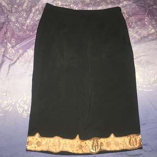 High Waist Black Skirt