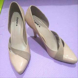 "Zanea Patent 3"" Heels (Nude)"
