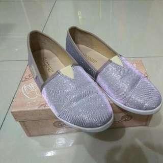 Bonjour-十克拉bling bling隱形2cm內增高休閒平底鞋