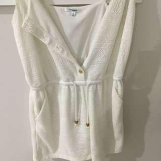 Valleygirl White lace Playsuit