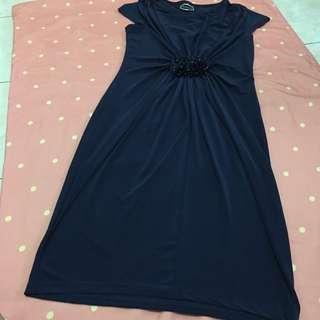 ‼️ REPRICING ‼️Ruesalidou (freesize) navy blue dress