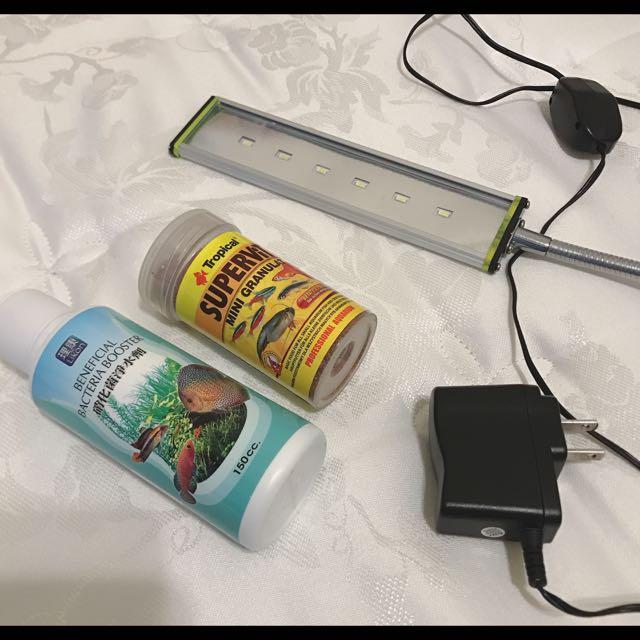 小型觀賞魚飼料(9分滿)燈具 18cm 硝化菌(2分滿)