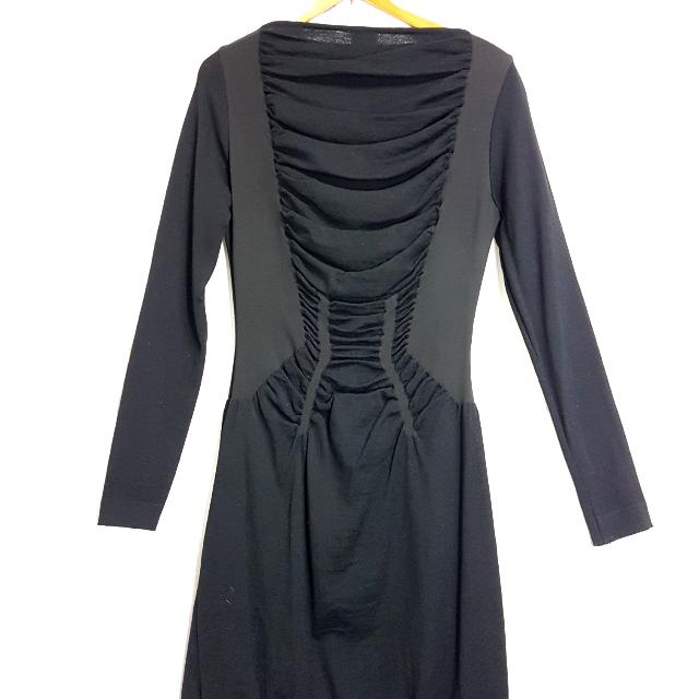 【超狂小阿姨】義大利製羊毛黑洋裝 #運費我來出