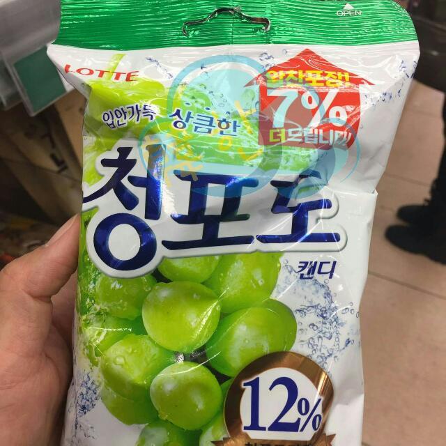 韓國連線 葡萄硬糖果
