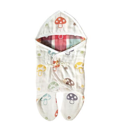 日本直送 Hoppetta 10mois 六重紗蘑菇分腳套包被