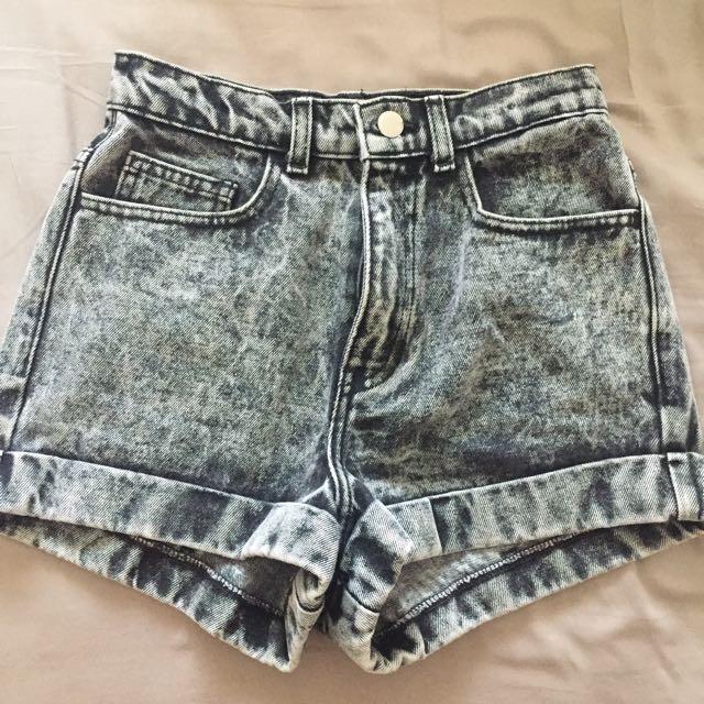 American Apparel Acid Wash Shorts