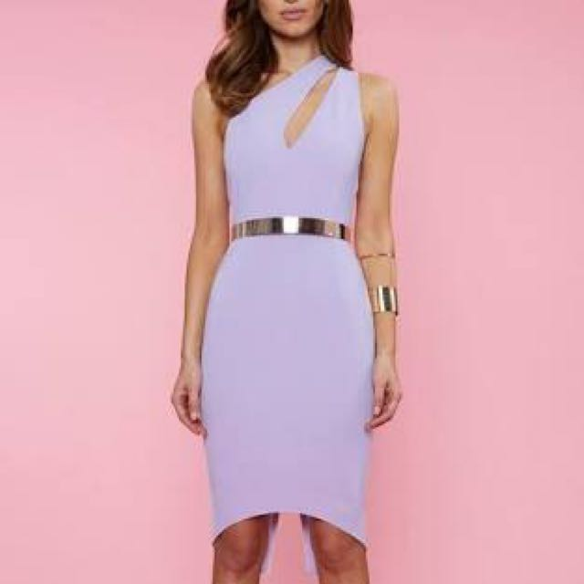 Asymmetric One Shoulder Dress With Cut Out
