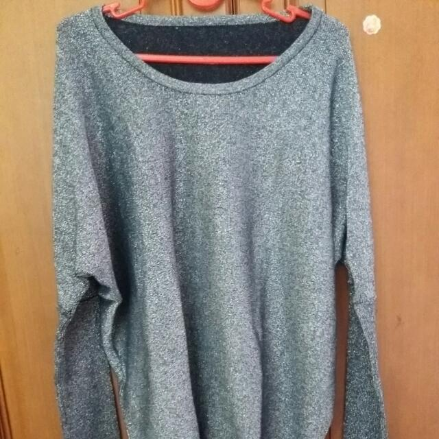 Bangkok Preloved Sweater Blouse Size Fit To XL