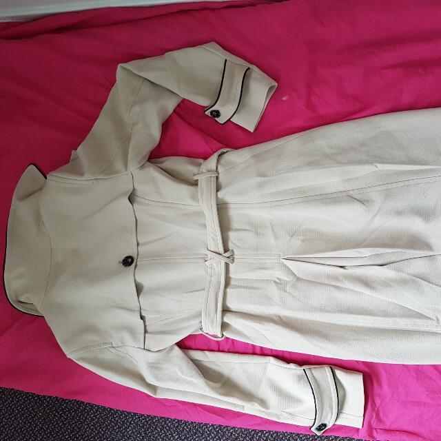 Beige Long Jacket Never Worn Size 12