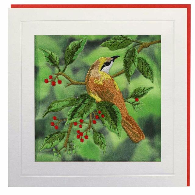 Birds with Berries Greeting Card