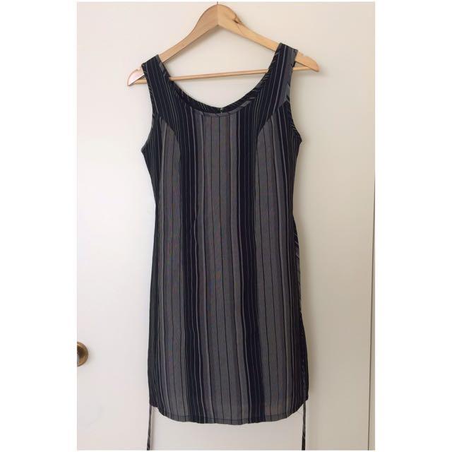 Black & Grey Stripes Dress