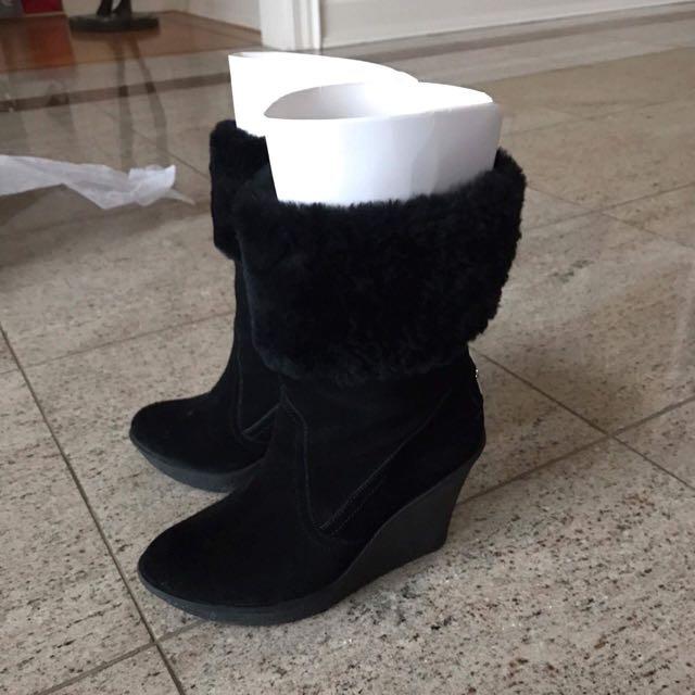 Black Coach Platform Boots