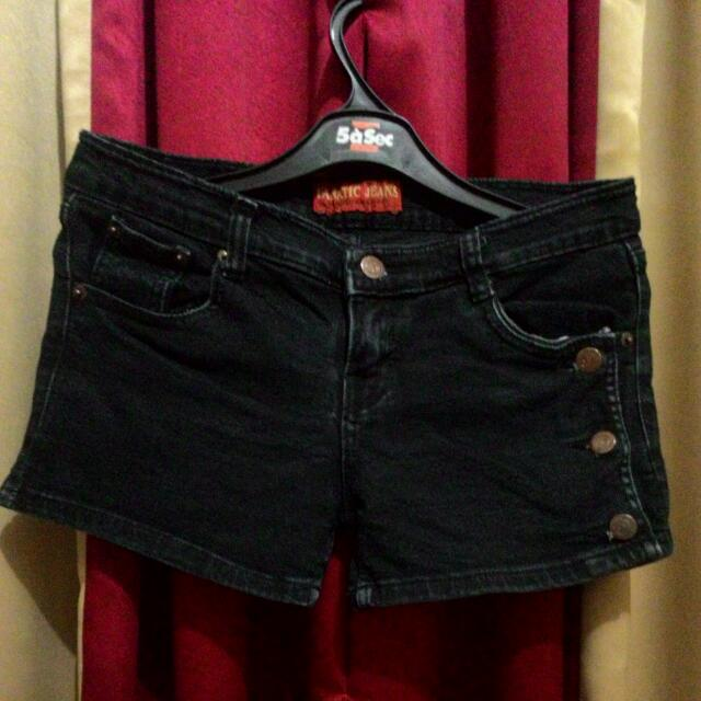 Black Hot Pants Jeans