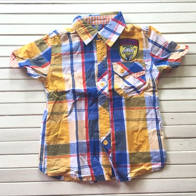 Blue And Yellow Stripe Polo For Boys 4 To 6