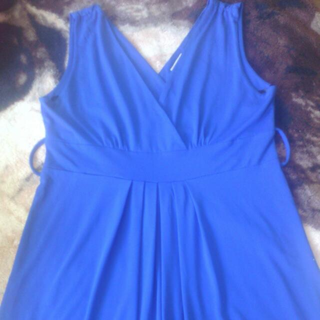 Blue Crossroads Dress