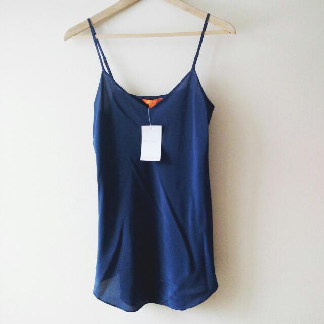 Blue Silk Joe Fresh Camisole NWT Small