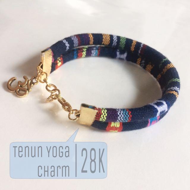 Blue Tenun Yoga Charm