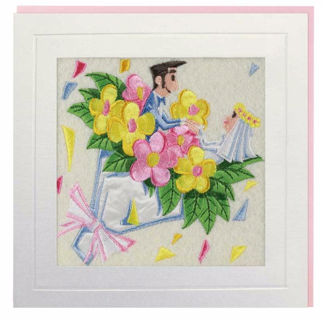 Bouquet Couple Greeting Card