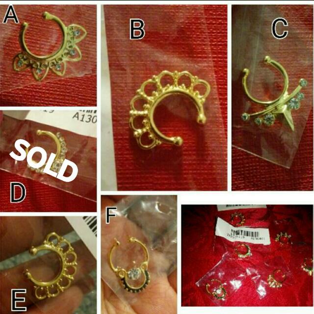 Septum ring Fake $5 Each Brand New Still Sealed