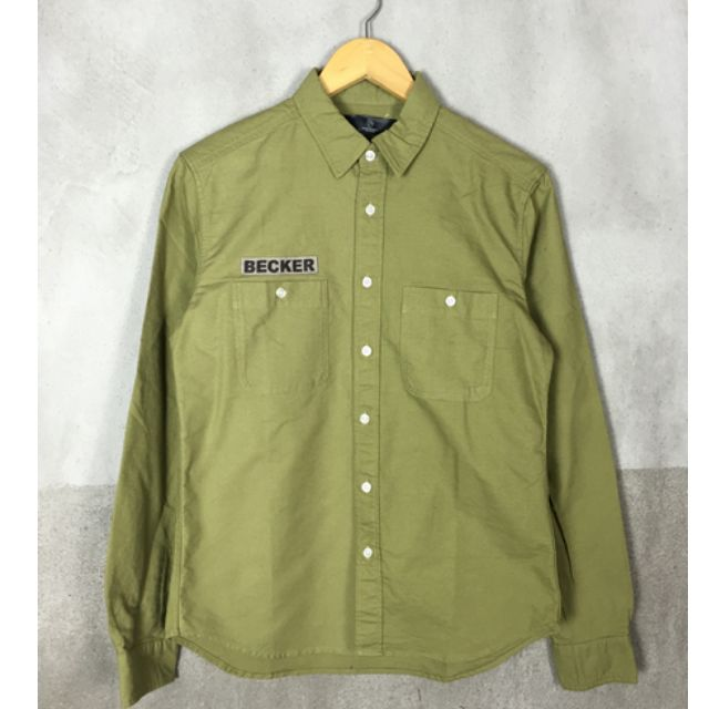 B&Y 軍風工裝 襯衫 余文樂 軍綠 M&L號