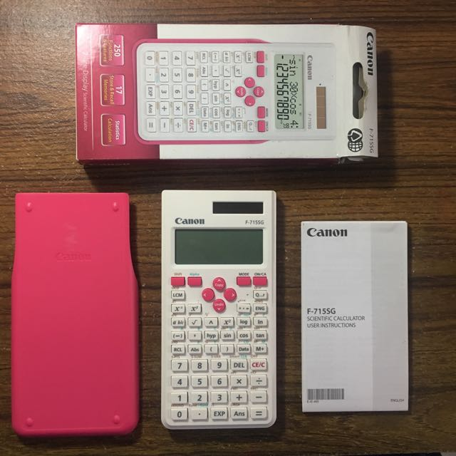 canon kalkulator calculator scientific pink putih, Books & Stationery, Stationery on Carousell