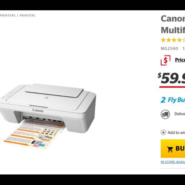 Canon MG2560 Printer