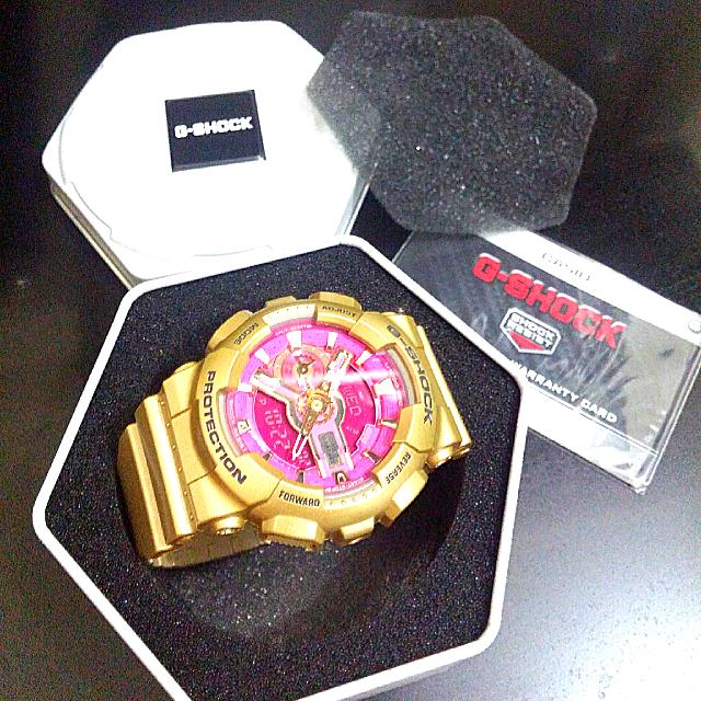 CASIO G-SHOCK GMAS110GD-4A1 S SERIES WOMEN