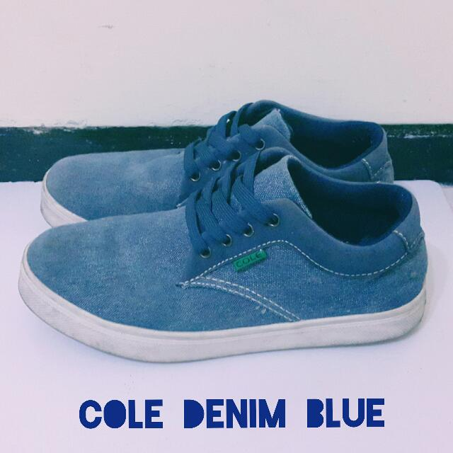 COLE ORIGINAL DENIM BLUE SHOES SNEAKERS [SEPATU PRIA COLE BIRU DENIM]
