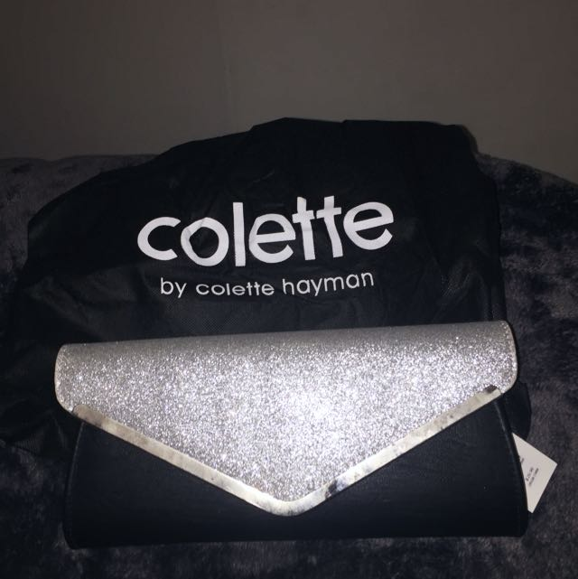 Colette Silver Clutch